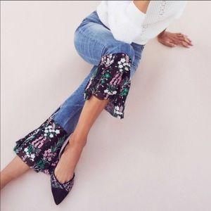 Pilcro and the Letterpress | Floral Hem Crop Jeans